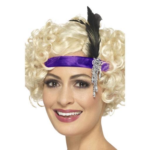 Purple Satin Charleston Headband