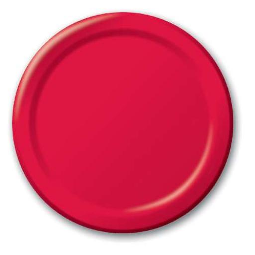 Apple Red Paper Plates 20pk