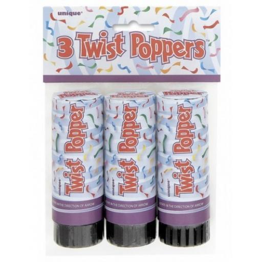 Twist Popper 11cm Pk3