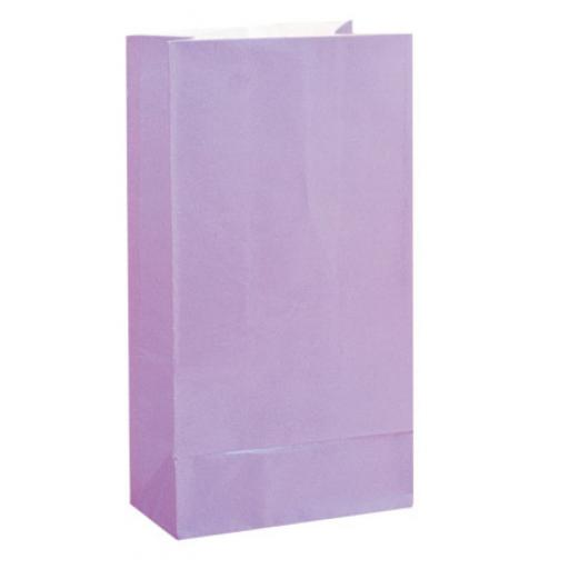 12 X Paper Party Loot Bags - Lilac