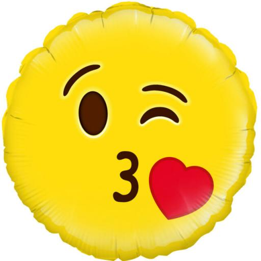 "Emoji Foil Party Balloons 18"""