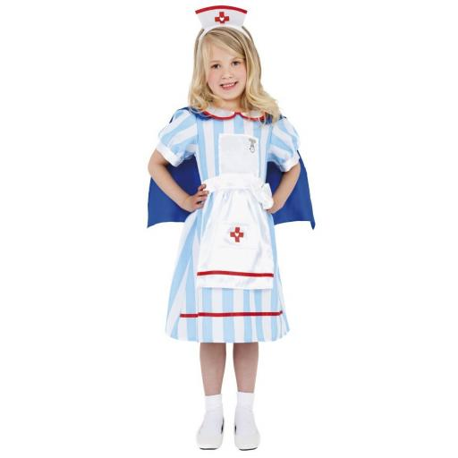Vintage Girl Nurse Costume Size S 4-6yrs