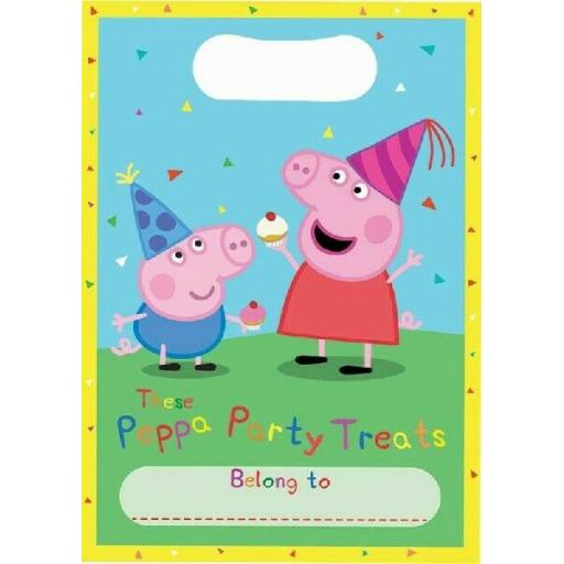 8 x Peppa Pig Birthday Party Loot Bags