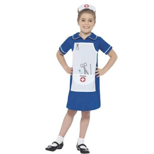 Girl Nurse Costume Size L 10-12yrs
