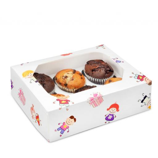 6/ Kiddies Muffin Cupcake Box x 2