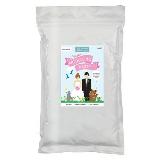Squires Kitchen Sugar Modelling Paste - Snow White - 1kg