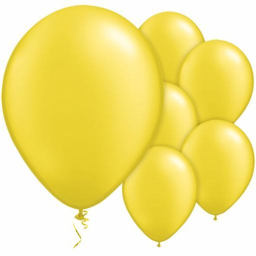 Lemon Yellow Lemon Shiny Latex Balloons 50 x 12''