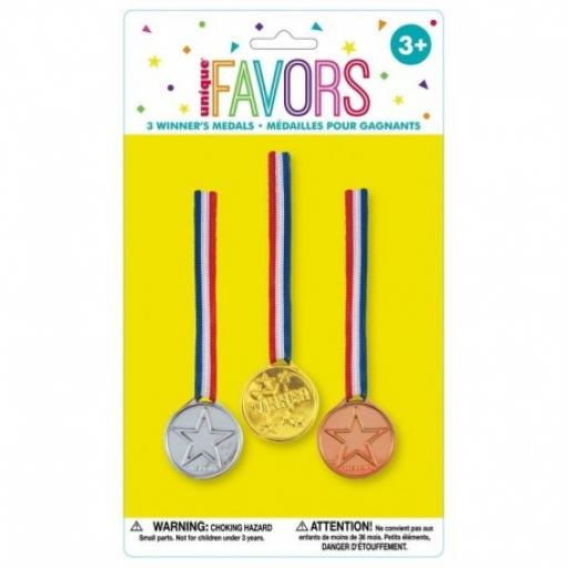 Winners Medals Pk of 3