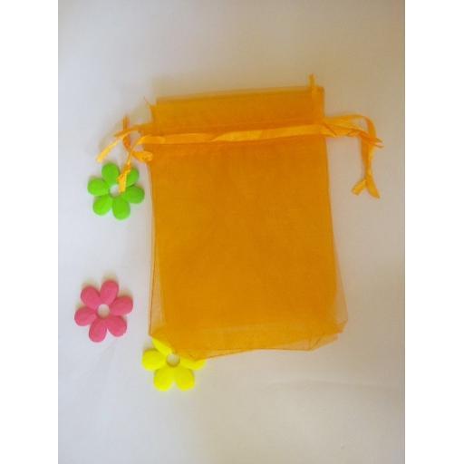 Orange Small Organza Pouch 10pk