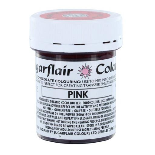 Pink Sugarflair Colour - Edible Chocolate Colouring