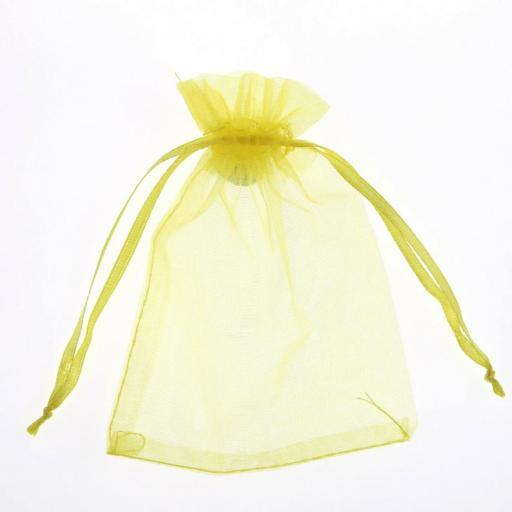 Yellow Small Organza Pouch 10pk