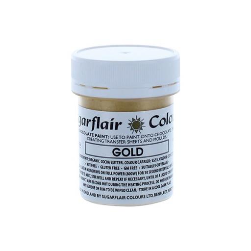 Gold Sugarflair Colour - Edible Chocolate Colouring