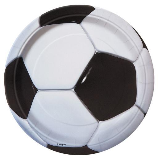 Football Paper Plates 8pk