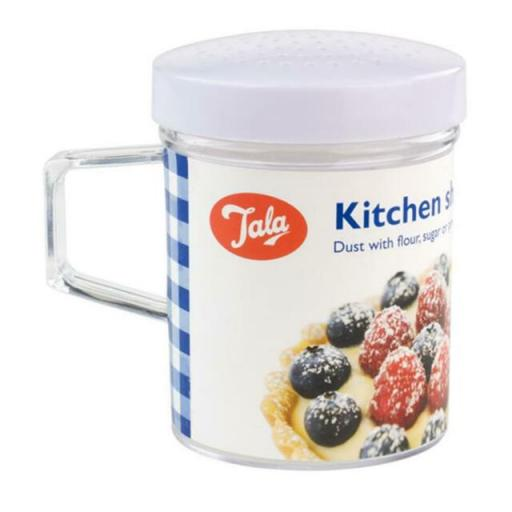 Tala Kitchen Shaker for Flour Sugar Pepper or Salt With White Removable Lid