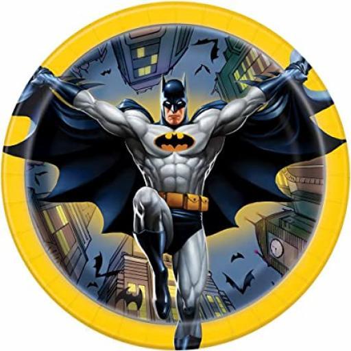 Batman Paper Plates 8pk 17cm