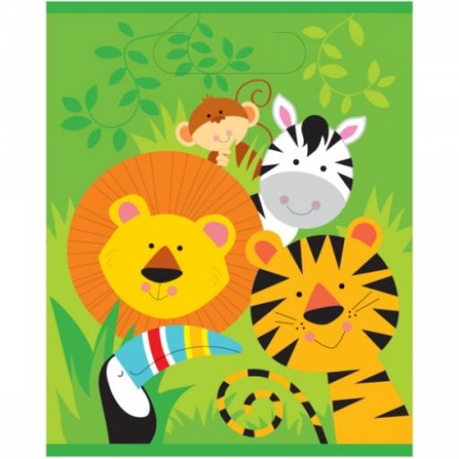Animal Jungle Party Bags 8pk