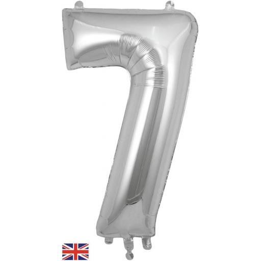 "34"" Number 7 Silver Balloon"