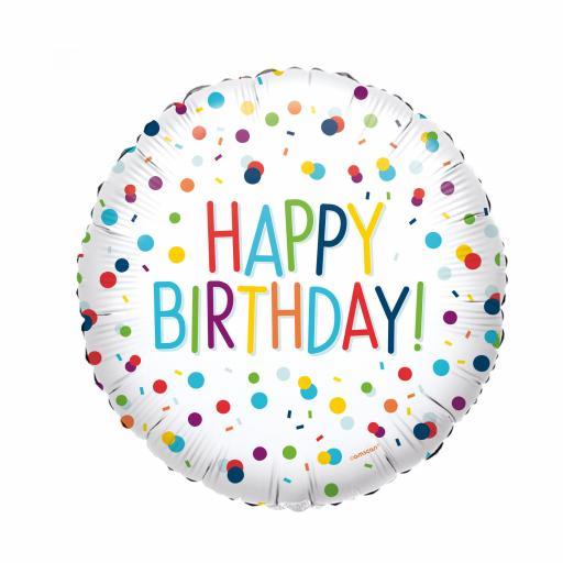Confetti Birthday Standard HX Foil Balloons