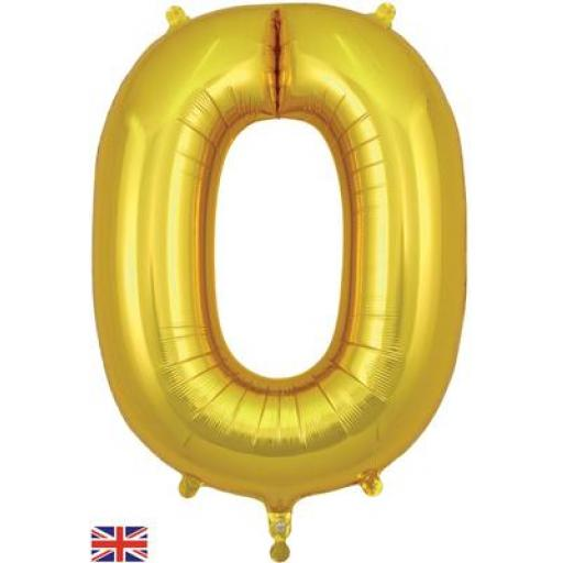 "34"" Number 0 Gold"