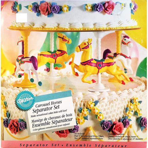 Wilton Carousel Horses Seperator Set