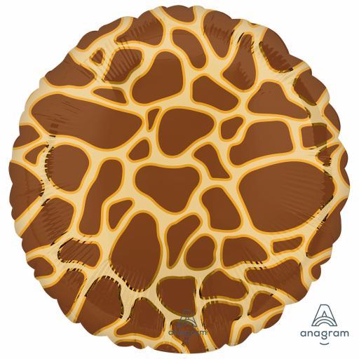 Animalz Giraffe Print Standard Packaged Foil Balloon