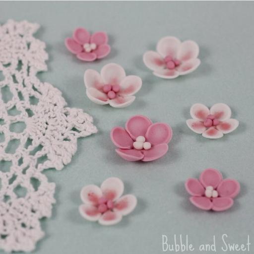 PME Pink Blossoms Sugar Decorations