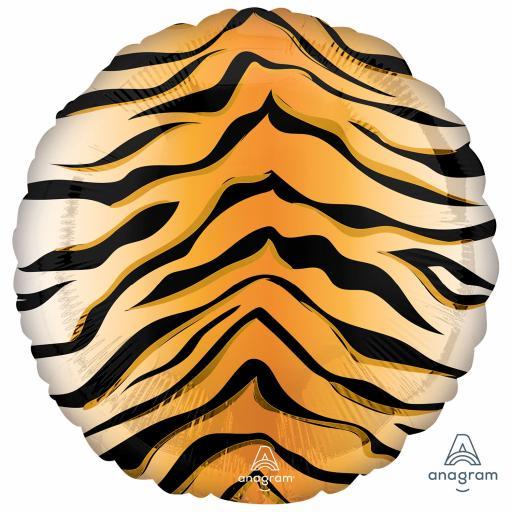 Animalz Tiger Print Standard Packaged Foil Balloon