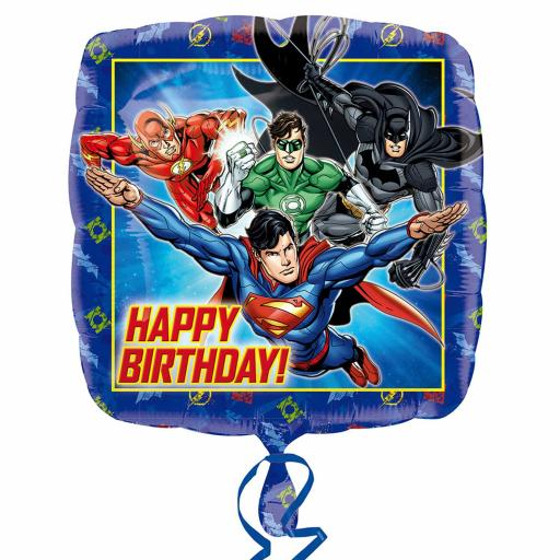 Justice League Happy Birthday Standard Foil Balloon