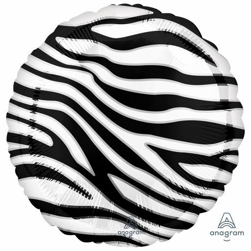 Animalz Zebra Skin Print Standard Packaged Foil Balloons