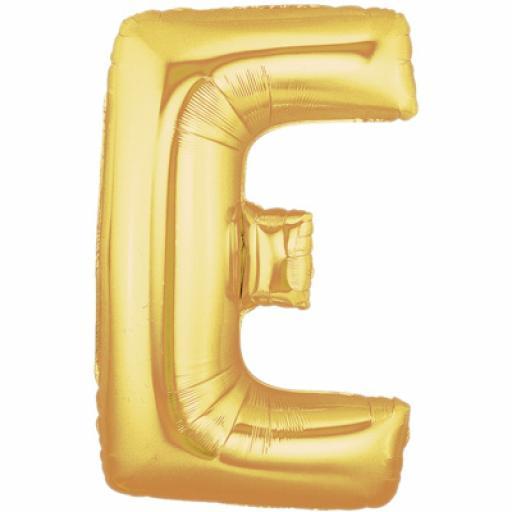40 Inch Foil Letter E Gold Balloon