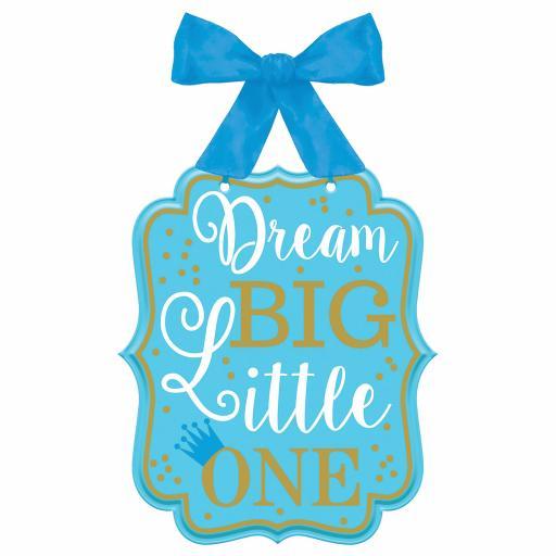 """1st Birthday Boy """"Dream Big Little One"""" MDF Signs 27cm x 23cm"""