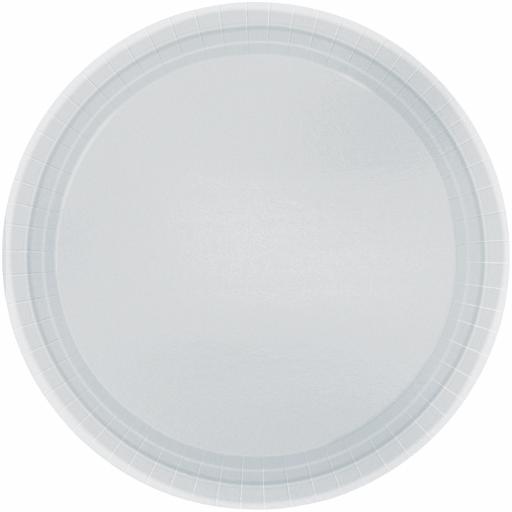 Silver Sparkle Paper Plates 22.8cm - 8