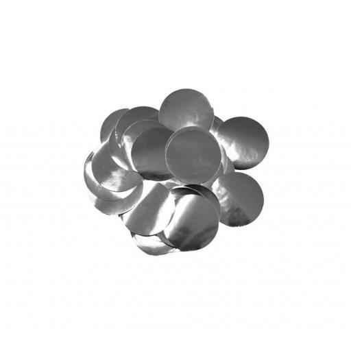 Metallic Foil Confetti 10mm x 14g Silver