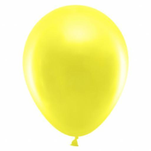 50 Shiny Yellow Latex Balloons