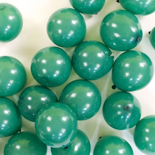 5in Latex Metallic Green Balloons