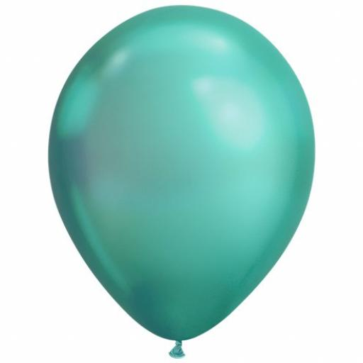 50 Metalic Green Latex Balloons