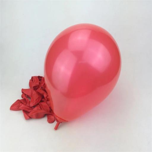 50 Shiny Red Latex Balloons