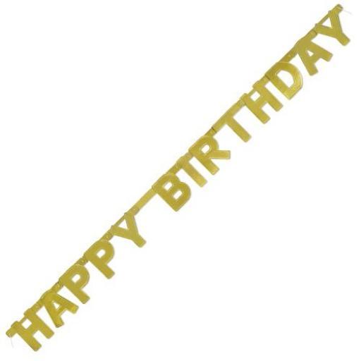 Banner Birthday Gold 1.21 M