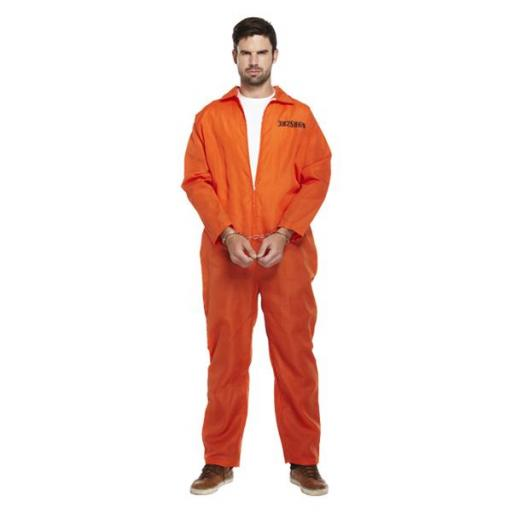 Adult Prisoner Overall Orange XL Size 1 PC