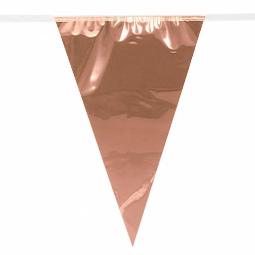 Foil giant bunting Pc. Foil giant bunting rose gold (10 m)