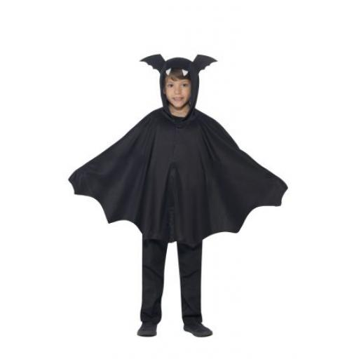 Bat Cape Children Costume Size M/L