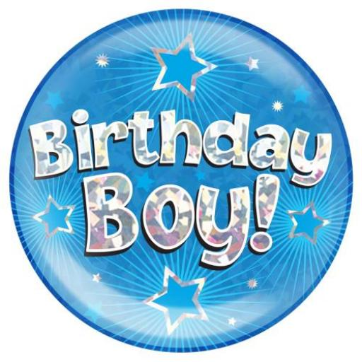 Jumbo Badge Birthday Boy Blue Colour