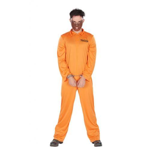 Adult Prisoner Overall Orange One Size 1 PC