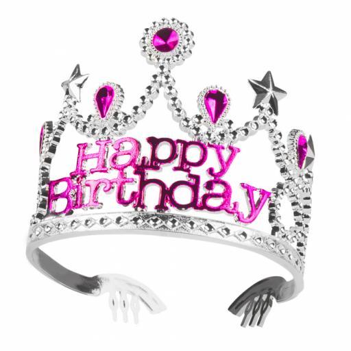 Crown Birthday girl 'Happy Birthday'