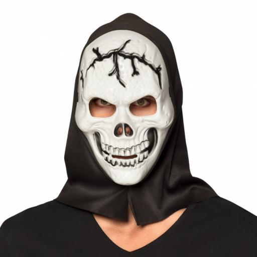 Face mask Skull with hood
