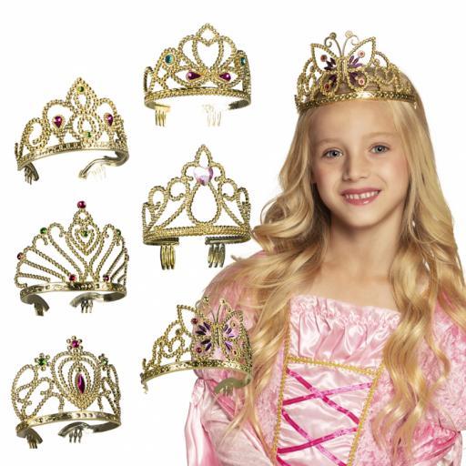 Crown Diana Pc. Tiara Diana gold 6 assorted - price for individual
