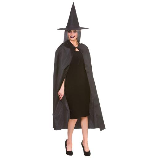 Wicked Witch Cape & Hat 125cm