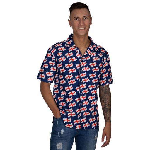 England Flag Hawaii Shirt (XL)