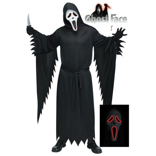 Official Scream/Ghost Face & Costume with E.L Mask - Adult